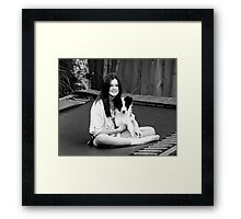 Love is Black and White....... Framed Print