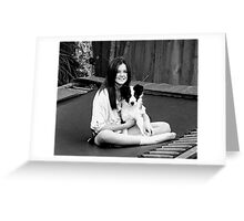 Love is Black and White....... Greeting Card
