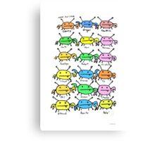 Name that Crab Canvas Print