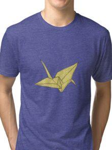 YellOw Crane Tri-blend T-Shirt