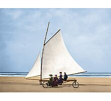 1910 : Sailing on the beach, Ormond, Florida Photographic Print