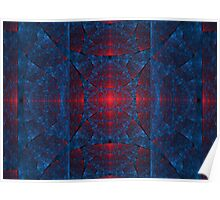 Blue and Red Elliptic  Poster