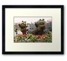 Posing Plants-Disneyland, Hong Kong Framed Print