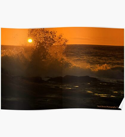 Sun And Wave Poster