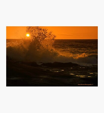 Sun And Wave Photographic Print