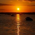 Sunset Over Sandbanks by naturelover