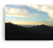 Cloudy View of Mount Baldy Canvas Print