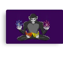 Alien monkey evolution Canvas Print