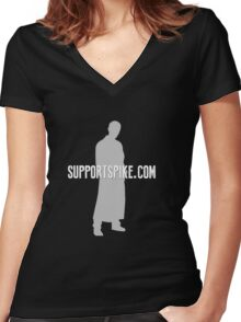 SupportSpike.com Logo Products Women's Fitted V-Neck T-Shirt