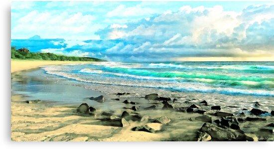 Beach Scenery by Walter Colvin