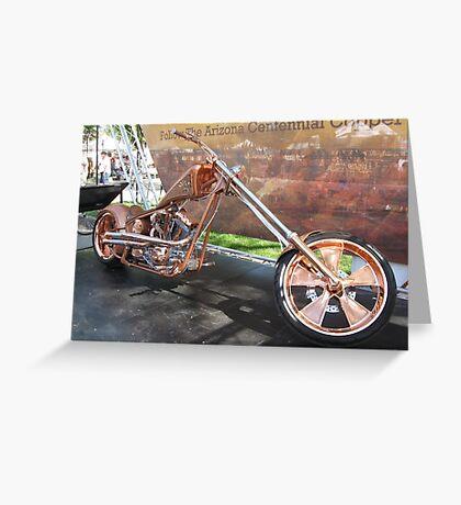 Arizona Copper Chopper in Prescott, AZ Greeting Card