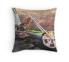 Arizona Copper Chopper in Prescott, AZ Throw Pillow