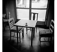 Coffee cup, cafe, Valparaiso, Chile Photographic Print