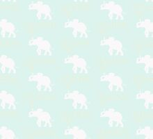 MINT DAISY ELEPHANT by Monika Strigel