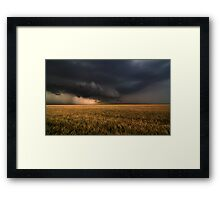 Shelf Cloud Near Nash, Oklahoma Framed Print
