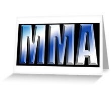 MMA, Mixed, Martial Art, Contest, Combat, Fight, Box, Wrestle, Grapple Greeting Card