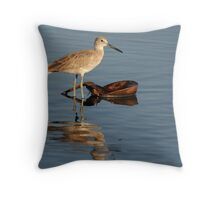 Willet Reflection Throw Pillow