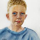 JB (a miniature portrait) by Fiona  Lee