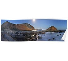 Howling Beach Panorama in Twilight Poster