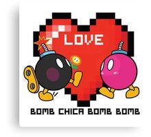 Bomb Bomb <3 Canvas Print