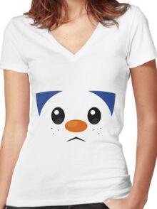 Pokemon - Oshawott / Mijumaru Women's Fitted V-Neck T-Shirt