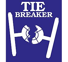 TIE BREAKER white Photographic Print