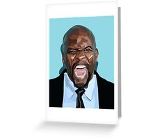VECTOR PORTRAIT----terry crews Greeting Card