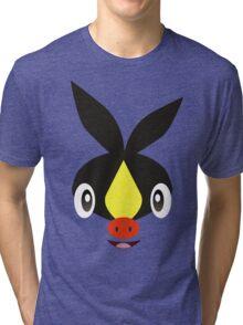 Pokemon - Tepig / Pokabu Tri-blend T-Shirt
