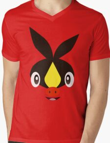 Pokemon - Tepig / Pokabu Mens V-Neck T-Shirt