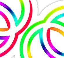 Six-stripe rainbow Venus and Mars symbol Sticker