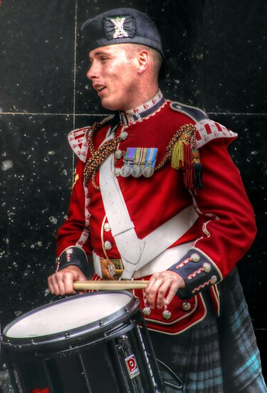 A Scottish Soldier Drummer  by Victoria limerick