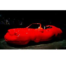 The Red Cellulite Car Photographic Print