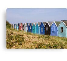 Beach Hut backs Canvas Print