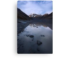Hooker Glacier Terminal Lake Canvas Print