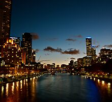 Southbank at night, Melbourne by saifster
