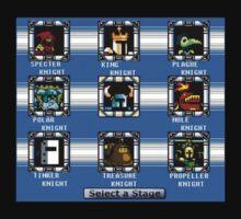 Shovel Knight Mega Man Stage Select by Matae187