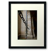 Chained, Melbourne Uni, Melbourne Framed Print
