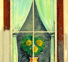 A Painted Window............. not Boarded... by Larry Llewellyn
