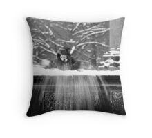 Child vs snow Throw Pillow