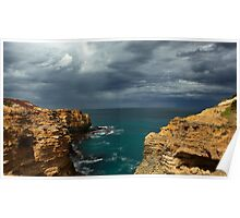Cloudy Ocean View Poster