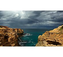 Cloudy Ocean View Photographic Print