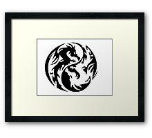 Dragon yin yang. Framed Print