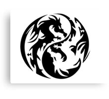 Dragon yin yang. Canvas Print