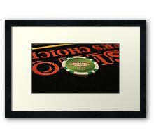 Poker Chip Framed Print