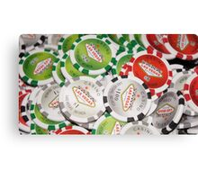 Poker Chips Canvas Print