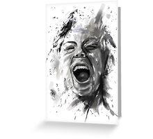 anger Greeting Card