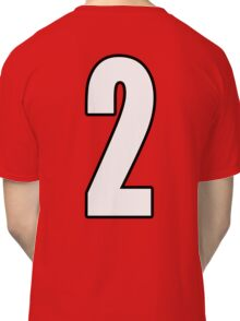 Football, Soccer, 2, Two, Second, Number Two, Sport, Team, Number, Red, Devils Classic T-Shirt