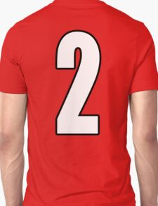 Football, Soccer, 2, Two, Second, Number Two, Sport, Team, Number, Red, Devils T-Shirt