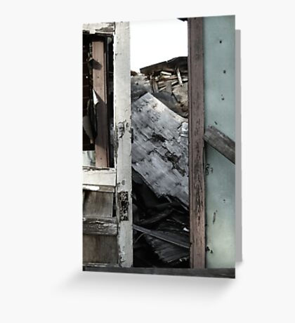 A Doorway to a House Decayed Greeting Card