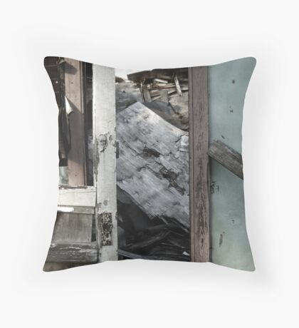 A Doorway to a House Decayed Throw Pillow